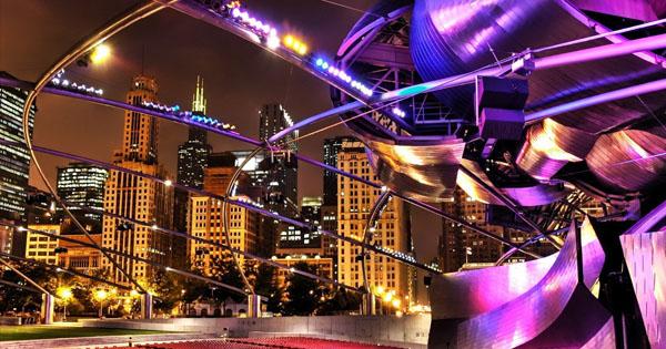 панорамы ночных городов мира