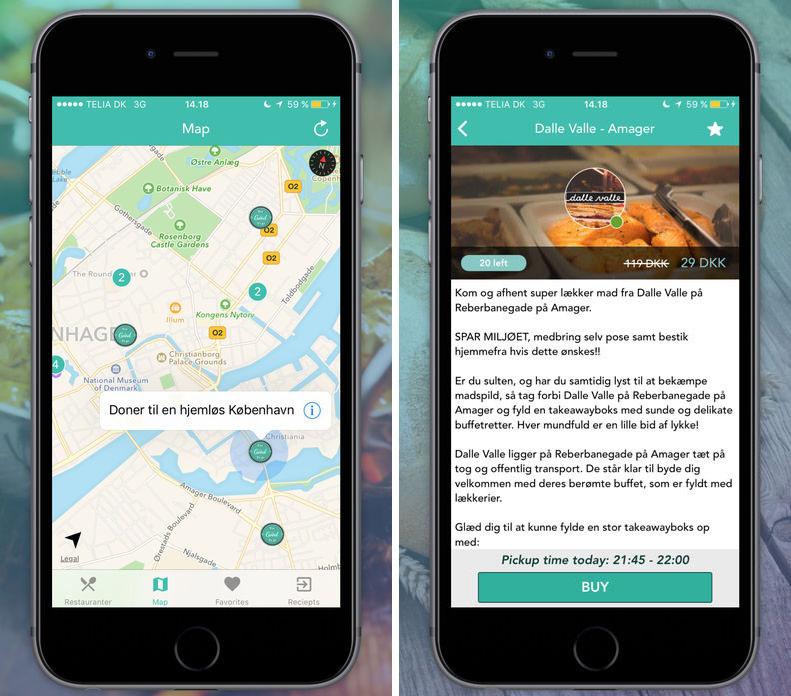 В Британии появилось приложение, с помощью которого можно заказать еду из мусорного бака