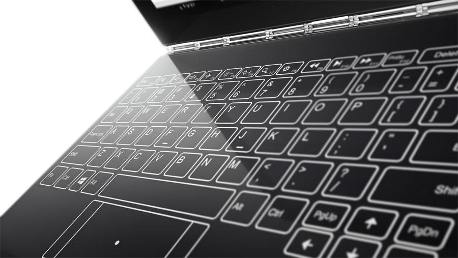 Lenovo представила ноутбук Yoga Book с сенсорной клавиатурой