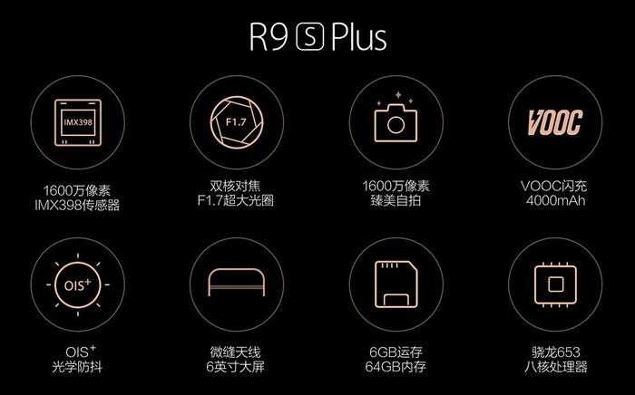 Oppo представила два новых смартфона — R9s и R9s Plus