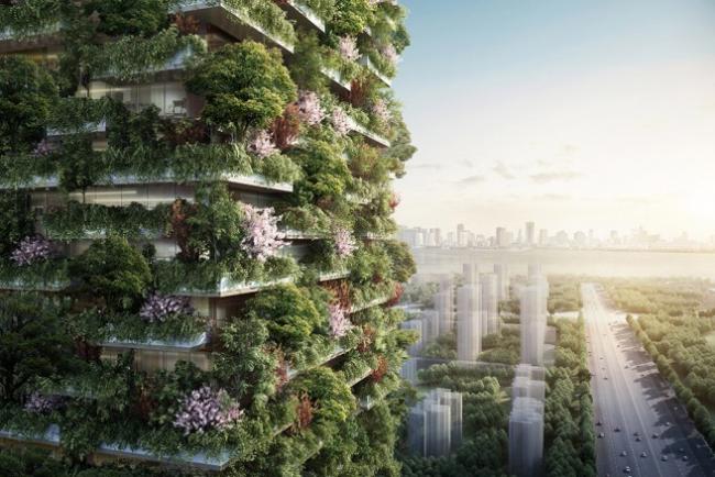 В Китае строят живые высотные здания