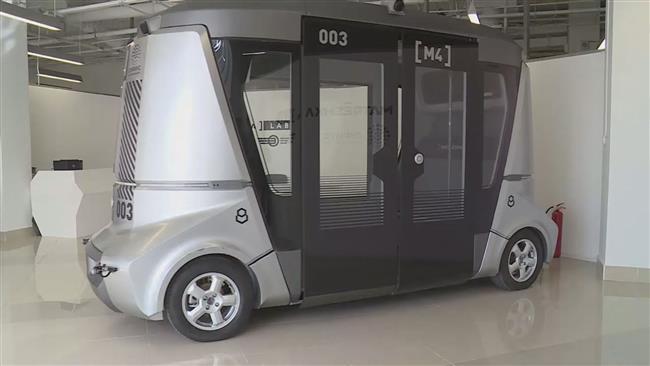 Россия представила беспилотный автобус для чемпионата мира по футболу 2018 года