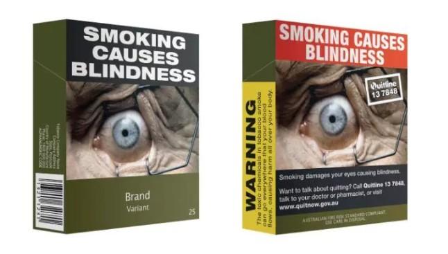 Незамысловатое оформление пачки сигарет срабатывает