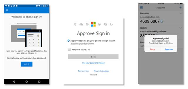 Microsoft заменяет пароли авторизацией через телефон