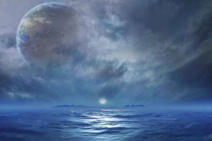 Большинство обитаемых планет могут быть полностью покрыты водой