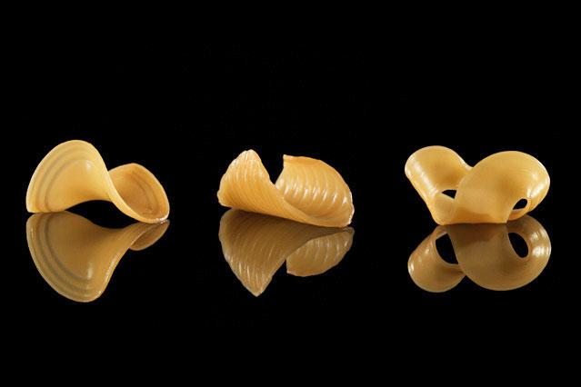 3D-принтер напечатает макароны, которые могут менять форму