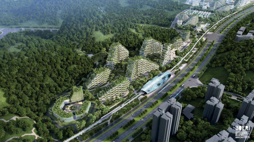 Буквально утопающий в зелени город будет бороться с загрязнением воздуха в Китае