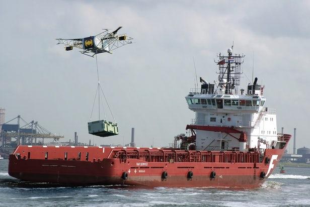 Российский беспилотный гибридный мультиротор предназначен для перемещения тяжёлых грузов