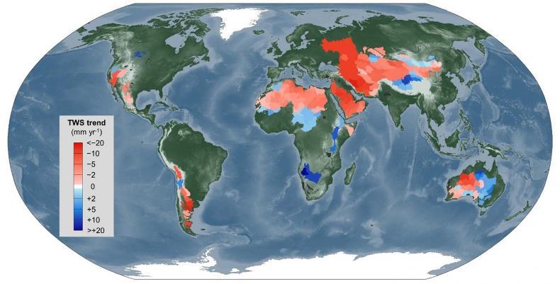 В мире значительно сократились запасы поверхностных вод