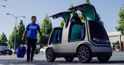 В американских продуктовых магазинах планируют использовать робомобили для доставки продуктов