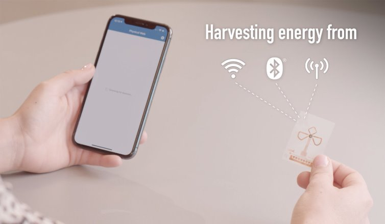 Сенсорная бирка, не нуждающаяся в батарее, получает энергию от радиоволн